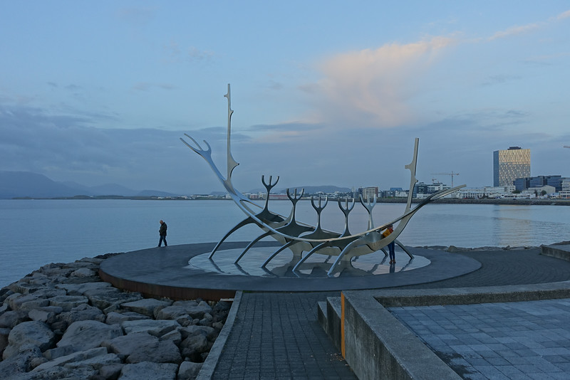 Sun Voyager (Icelandic: Sólfar) is a sculpture by Jón Gunnar Árnason (1931 - 1989). The sculpture is located by Sæbraut, by the sea in the center of Reykjavík.