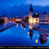 Europe - Iceland - Reykjavik - The Capital City - Hafnarfjörður Church - Hafnarfjarðarkirkja - Dusk - Twilight - Blue Hour