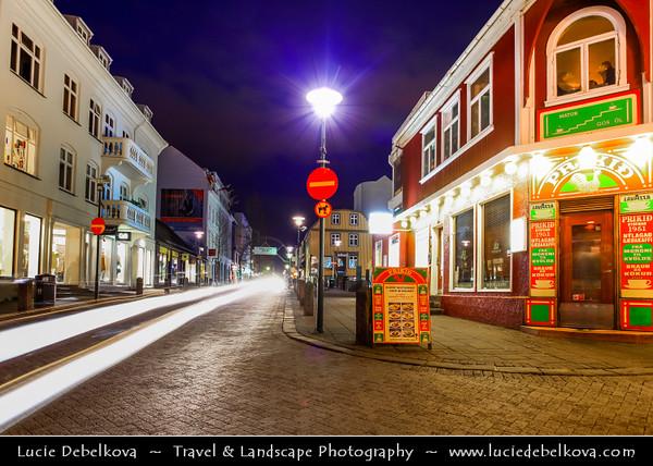 Iceland - Reykjavík - Famous Main Laugavegur Street - Night life