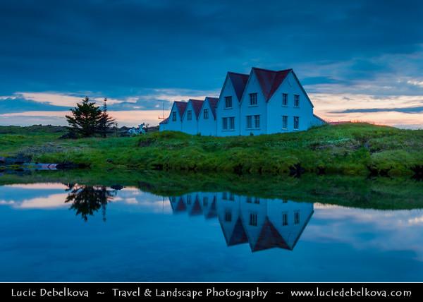 Europe - Iceland - South Coast - Hafnarfjordur - Straumur Art Center - Captured during Midnight Light - 1 AM