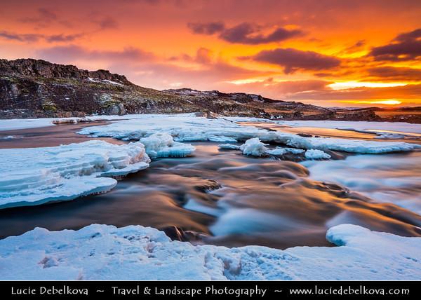 Europe - Iceland - West Iceland - Borgarfjörður - Fossatún & surrounding landscape