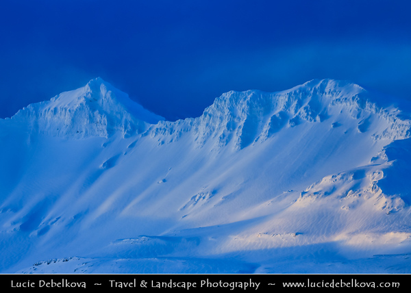 Europe - Iceland - West Iceland -  Snæfellsnes - Grundarfjörður area surrounded by stunning snowy mountains at first morning light