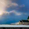 Europe - Iceland - West Iceland - Snæfell Peninsula - Snæfellsnes - Area with dramatic coastline and abundant volcanic features - Lonely Church during winter time under fresh snow cover