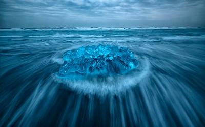 Iceberg in the surf