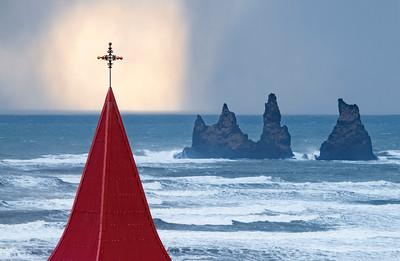 Vik church steeple