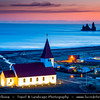 Europe - Iceland - South Iceland - Vík í Mýrdal & Church loca