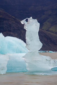 Iceburg sculptures in the Fjallsárlón Glacial Lagoon