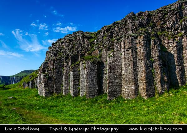 Europe - Iceland - Southern Iceland - Dverghamrar - Dwarf Rocks - East of Foss - Peculiar & beautiful formations of columnar basalt