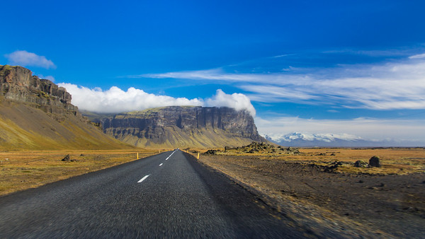 Driving along the South Coast of Iceland