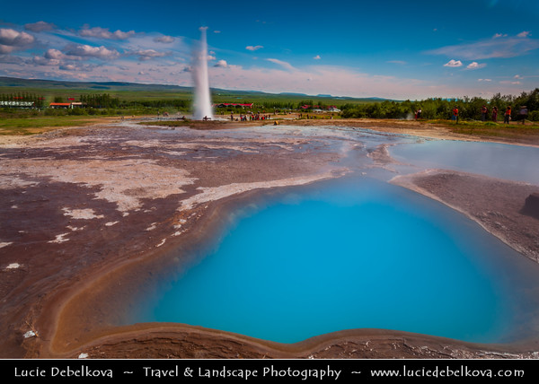 Europe - Iceland - Southern Iceland - Strokkur Geysir - Geysir's little brother and its surrounding geothermal area - One of the most visited attractions in Iceland