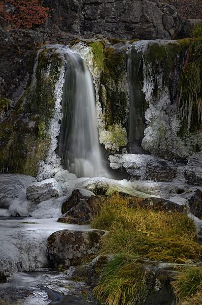 Waterfall among the Ice