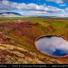 Europe - Iceland - South Iceland - Grímsnes area -  Iceland's Western Volcanic Zone - Kerið volcanic crater lake -  One of most visually recognizable caldera still intact