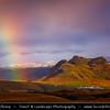 Europe - Iceland - Southernmost Iceland - Vik i Myrdal Area - Rainbow over Landscape near Dyrhólaey