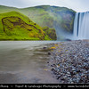Europe - Iceland - Southernmost Iceland - Skogar Waterfall - One of Iceland's most recognized waterfalls
