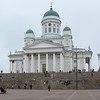 The Helsinki Cathedral shrouded in fog