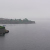 In the morning as we near Helsinki, the ferry winds its way through the fog past the fortress on Suomenlinna Island