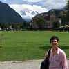 Robin, with Jungfrau peak in background