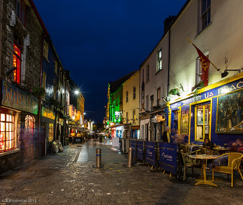 Shop Street at Night