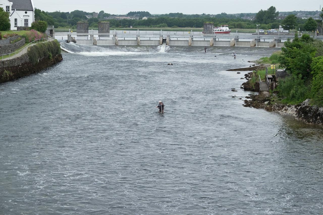 Some guy fishing