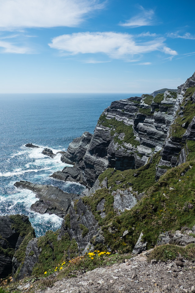 West coast of Ireland seems to be mostly made of cliffs.
