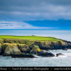 Europe - Ireland - Éire - Airlann - Airlan - County Waterford - Copper Coast UNESCO Global Geopark - Dramatic rocky coast along Atlantic Ocean