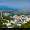 """Europe - Ireland - Éire - Airlann - Airlan - County Galway - Connemara - Chonamara - Clifden - An Clochán - Pittoresque historical town and """"Capital of Connemara"""" located on the Owenglin River where it flows into Clifden Bay"""