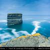 Europe - Ireland - Éire - Airlann - Airlan - County Mayo - Downpatrick Head - High cliffs area along the shore of Atlantic Ocean - Dun Briste - Impressive sea-stack