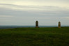 "On the right, 'Lia Fail' -- the Stone of Destiny -- on the Royal Hill of Tara -- was said to let out a roar of joy that could heard all over Ireland when the rightful High King put his feet on it.<br /> <br /> During the rebellion of 1798, United Irishmen camped on the hill but were attacked and defeated by British troops on 26 May 1798. The dressed stone on the left marks the graves of the 400 rebels who died here that day.<br /> <br /> I have single-handedly created a famiy tradition that we are descended through my O'Connor Mother from Turlough O'Connor the last High KIng of Ireland.<br /> <br /> Unlike the Princess Grace connection (q.v. <a href=""http://tinyurl.com/pz7aa26"">http://tinyurl.com/pz7aa26</a>), there is no one else who thinks this even remotely likely to be true."