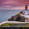 Europe - Ireland - Éire - Airlann - Airlan - County Dublin - Dublin - Baily Lighthouse on the southeastern part of Howth Head during late evening