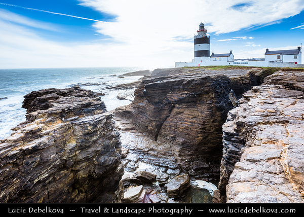 Europe - Ireland - Éire - Airlann - Airlan - County Wexford - Hook Lighthouse - Hook Head at tip of the Hook Peninsula - One of oldest lighthouses in world & second oldest operating lighthouse in world
