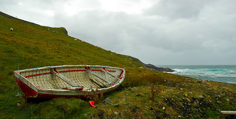Fishing dory, County Donegal