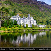 Europe - Ireland - Éire - Airlann - Airlan - County Galway - Connemara - Chonamara - Kylemore Abbey - Mainistir na Coille Móire - Benedictine monastery founded on the grounds of Kylemore Castle