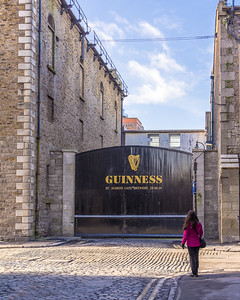 Outside of the Guinness brewery