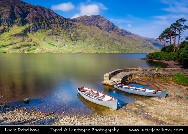 Europe - Ireland - Éire - Airlann - Airlan - County Galway - Connemara - Chonamara - Doo Lough Pass Area - Scenic mountain pass with well-known fishing lake
