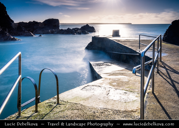 Europe - Ireland - Éire - Airlann - Airlan - County Waterford - Tramore - Seaside town on southeast Irish coast - Newtown Cove - Picturesque Bay on shores of Atlantic Ocean