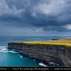 Europe - Ireland - Éire - Airlann - Airlan - County Mayo - Downpatrick Head - High cliffs area along the shore of Atlantic Ocean