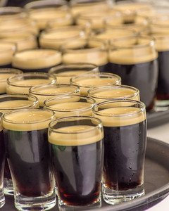 Lots of little Guinness shots