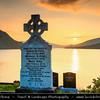 Europe - Ireland - Éire - Airlann - Airlan - County Galway - Connemara - Chonamara - Leenaun - Leenane - Pittoresque village on the shore of Killary Harbour - St Michael's church and typical graveyard with Irish Celtic crosses