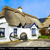Europe - Ireland - Éire - Airlann - Airlan - County Wexford - Kilmore Quay - Picturesque fishing village famous for its traditional thatched roof cottages