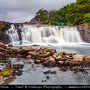 Europe - Ireland - Éire - Airlann - Airlan - County Galway - Connemara - Aasleagh waterfall - Picturesque waterfall located on the River Erriff just before the river meets Killary Harbour - Very popular for salmon fishing