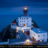 Europe - Ireland - Éire - Airlann - Airlan - County Dublin - Dublin - Baily Lighthouse on the southeastern part of Howth Head during late evening -  Dusk - Twilight - Dawn - Blue Hour - Night