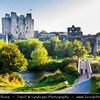 Europe - Ireland - Éire - Airlann - Airlan - County Meath - Trim Castle - Caisleán Bhaile Atha Troim - Norman castle on the south bank of the River Boyne in Trim - Largest Norman castle in Ireland