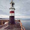 Lighthouses on West Quay and North Pier, Ramsey, Isle of Man