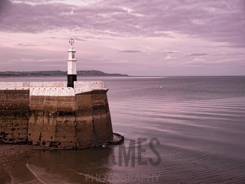 Lighthouse on North Pier, Ramsey, Isle of Man