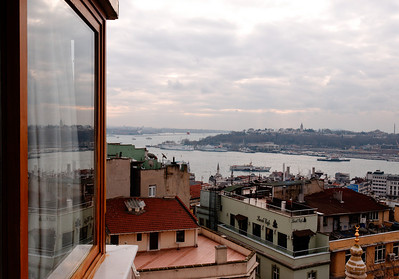 The Golden Horn and the Sea of Marmara in the distance