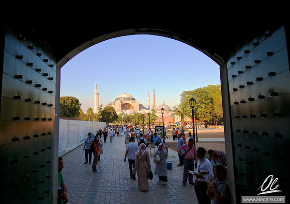 Looking at Ayasofya from Sultanahmet Camii (Blue Mosque)