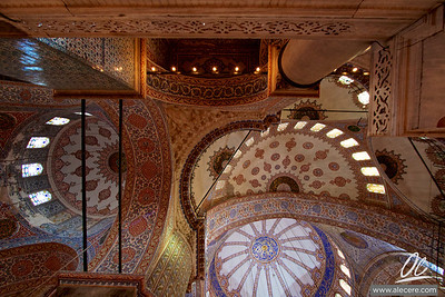 Sultanahmet Camii (Blue Mosque) - The incredibly decorated ceilings