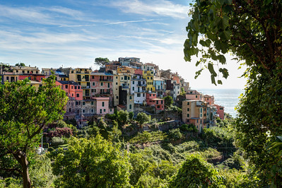 Corniglia from the trail to Vernazza, Cinque Terre, Italy
