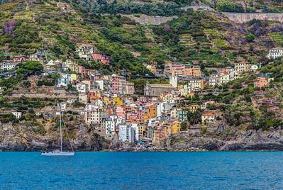 Riomaggiore from the Sea