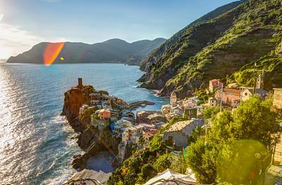 Vernazza from the Trail from Corniglia